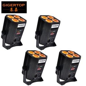 4X18W RGBWA UV 6in1 Sahne LED Aşağıdan DMX IR Kontrol Kablosuz Pil LED PAR ışıkları İşletilen