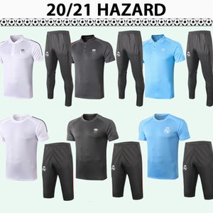 20 21 Hazard Polo Chemises de football Kit Nouveau Polo Mariano Benzema MoDric Marcelo Rouge Noir Black Grey Costume Blanc Football Jerseys Pants Top