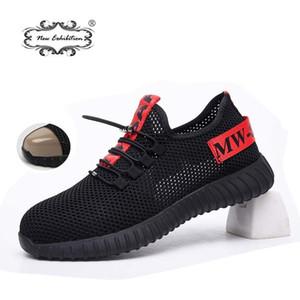 Yeni Sergi Güvenlik Ayakkabıları erkek Çelik Toe Anti-Smashing İnşaat İş Sneaker Açık Nefes Moda Güvenlik Botları LJ200918