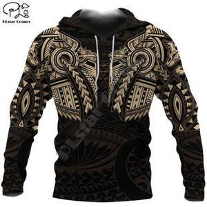 PLstar Cosmos Nouvelle-Zélande Lion tatouage Maori 3D imprimé Nouveau Sweat-shirt à capuche Homme Zipper Fun Casual Jacket Pull Style-3