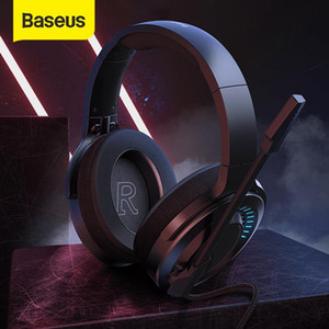 Baseus D05 3D Stereo Gaming Headphone USB Type-C Colorful LED Light Wired Game Headsets with HD Microphone For Computer PC Gamer
