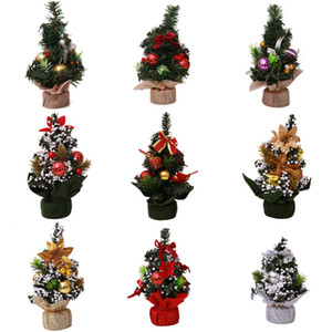Mini Christmas Tree Xmas Artificial Tabletop Decorations Festival Miniature Tree with Ball Home Room Desktop Ornaments 2010XB