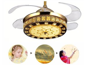 42 Inch Invisible Fan Light Led Ceiling Fan Light Simple Household Led Chandelier Invisible Fan Ceiling Fans
