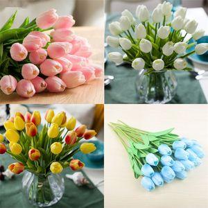 PU Artificial Flowers Tulipani di seta Real Touch Flowers Mini Tulip Matrimonio Decorativo Bouquet Decorazioni da sposa Decorazioni per la casa Decor LXL732 35 N2