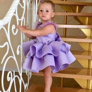 Lovely Flower Girls Dresses For Weddings Off the Shoulder Lace Tulle Princess Birthday Party Dresses Children Girls Pageant Dresses