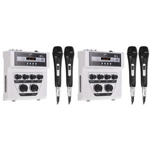 2 Mikrofon White ile DJ Mixer Ana Karıştırıcı Açık Mikrofon Küçük o AMS-Bluetooth