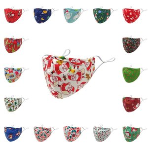 Máscara DHL Shipping Rosto de Natal para Mulheres Homens Outdoor respirável lavável reutilizáveis cobrir a boca Máscaras bonito dos desenhos animados Kimter-B270F