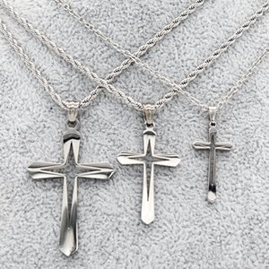Retail Fashion jewelry cross pendant with chain couple necklace men and women Christmas birthday gifts fashion accessories