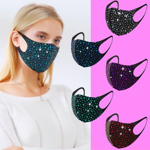 DHL Flash Girls Paillettes Bling Bling Star Face Mask Designer Nightclub Party Personalizzazione Personalizzazione Riutilizzabile Maschera Riutilizzabile Anti-fog Anti-Fog