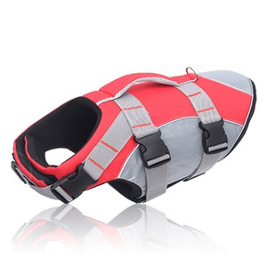 Dog Lifejacket Reflective Dog Life Jacket Vest Life Preserver Swimsuit with Rescue Handle for Large Medium Small Dogs 201102