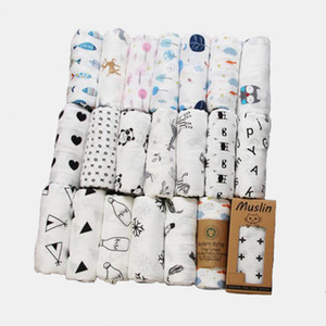 100% Muslin Cotton 2 Layers Newborn Baby Children Swaddle Blanket Infant Swaddle Wrap Diapers Cloth Baby Wrap Blanket Swaddle 201022