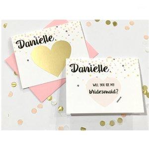 مخصص اقتراح وصيفه الشرف خدش البطاقة سوف تكون خدش العروسي قبالة بطاقة اقتراح فريد من نوعه