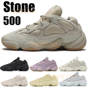 Kanye West 500 Desert Rat running shoes Bone White Utility black Stone Soft Vision Sport sneakers Blush Moon Yellow Salt trainers boots 4dd4