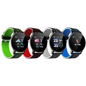 New 119 Plus Smart Bracelet Alarm Clock Heart Rate Smart Watch Wristband Sports Watches Band IP67 Waterproof Smartwatch With Box Fitbit MI