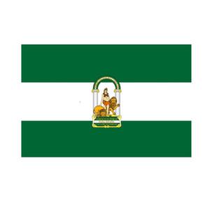 Regalo Andalusia Andalusia Spagna per la decorazione Bandiera 3x5 FT promozionali Bandiera Festival Partito 100D poliestere coperta di vendita esterna Stampato calda