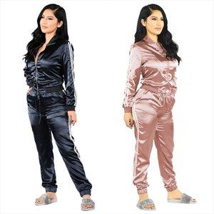 Fashion Zipper Suit Set 2020 Women Tracksuit Two piece Sport Style Outfit Jogging Sweatshirt Fitness Lounge Sportwear