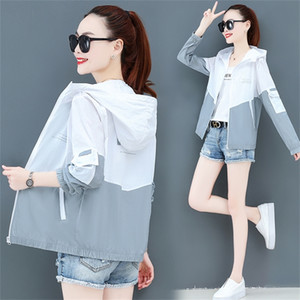 Thin Jacket Women Summer Hoode Coat Sunscreen Cardigan 2020 Casual Outerwear UV Sun Protection Beach Lady Top Female Loose White LJ200813