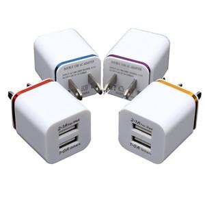 Metall Dual-USB-Ladegerät US-EU-Stecker 2 .1a Wechselstrom-Adapter-Wand-Aufladeeinheits-Stecker 2 Port für Telefon