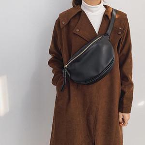 Borsa in vita Donne di modo Fanny Pack Grande capacità Crossbody Bag Banana Pack PU Cuoio Ladies Belt Designer Vita