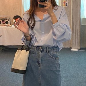 S-XL New oversize Women Blouses spring Tops femme Casual Women shirt long sleeve Cotton Girls Blouse Plus Size Blusas autumn