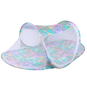 Baby Mosquito Net Cribs Yurt Shui Zhang Bottom Portable Collapsible Cots Cribs Mosquito Net for Baby Crib Bed Tent LJ200818