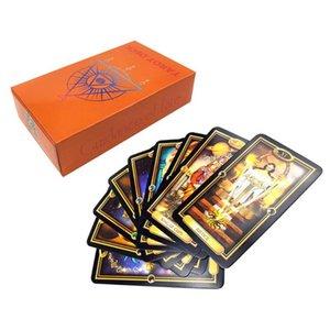 Fácil de tarot 78 tarjetas Cubierta Orientación del destino misterioso Inglés Oracle Tarjeta de juego N58b Easy Tarot sqcFms pingtoy