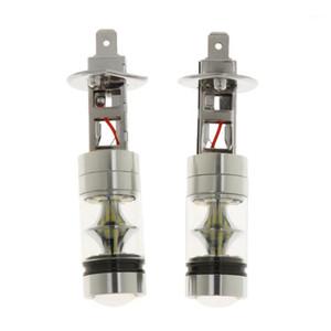 2x H1 10000K 100W LED 20SMD PROJET DE PROJECTEUR PARTAGE Ampoules DRL Lumières Blanc1