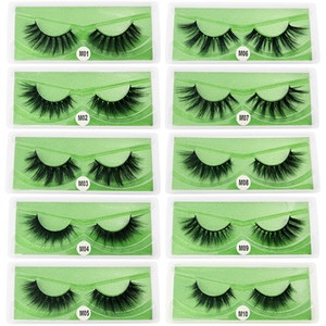 New Arrival 3d Mink eyelashes Thick real mink Hair false lashes Eye Lash Makeup Extension fake Eyelashes 10 Styles