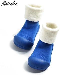 Dickere Baby Jungen Mädchen Erster Wanderer Kinder Attipas Gleiche Design Anti-Rutsch-Kleinkind Schuhe Neugeborenen Boot SCOK Infant Outdoos Schuhe Y200103