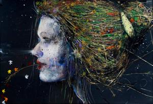 Angelo Accardi LADY GRAZIA Home Decor dipinto a mano HD Dipinti Stampa Olio Su Tela Wall Art Immagini 201004