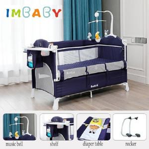 Imbaby New Brotish Baby Cuna empalmando la cama grande removible Multifuncional Portátil Portátil Portátil Bebé recién nacido Cama Cama Cama Nest Q1113