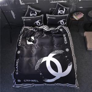 2020 conjuntos de cama designer de tamanho rainha preta designer cama 4 peças set casa melhor cama de luxo para casa