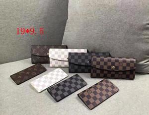 Envío gratis al por mayor Wholesale Foturio rojo Lady Long Wallet Diseñadores Multicolor Monedero Monedero Titular de la tarjeta Original Caja Mujer Classic Zipper Pocke