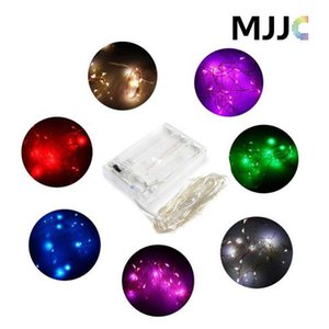 2m / 3m / 4m / 5m Parti Noel Led Pil Gücü İşletilen 20 30 40 50leds (Gümüş Rengi ile) Bakır Tel String Işık Lambası