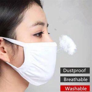 Unisex Baumwolle Gesichtsmasken Anti-Staub-windundurchlässiges Gesichtsmaske Männer Frauen Schwarz Weiß Mund Abdeckungen waschbare haltbare Außengesichtsmasken Top-Qualität
