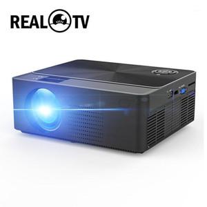 Proyectores Real TV W6 HD Proyector 4000 Lumens Android WiFi Bluetooth Portable Cinema Beamer Soporte 1080P USB VGA AV AV SD con regalo1
