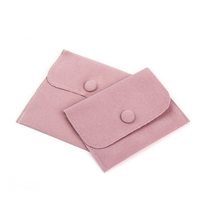 Jewelry Gift Packaging Envelope Bag Of Pink Fastener Snap Proof Jewellery With Made Pouches Pearl Velvet Dust Blue Size Choice Avqet