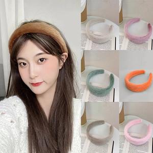 Fashion Faux Fur Haveband Bandas para el cabello Accesorios para el cabello del invierno para las mujeres Hairbands Soft Peluche Bisel Hoop Head Bands Headwear