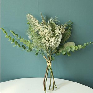 Bundle Artificial Flower Artificial Plants Home Decoration Accessories Dried Flowers Mixed Resin Jewellery Green Silk Branch