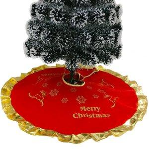 Nueva decoración del ornamento del árbol de navidad para el árbol de Navidad árbol de Navidad falda Elk Inicio 90cm delantal Suministros DWE2256
