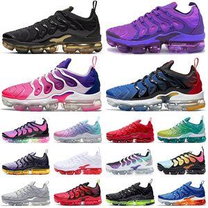 nike air vapormax plus tn vapors vapor max tns scarpe da corsa Triple Black White Be True da donna da uomo chaussures sneakers sportive da ginnastica