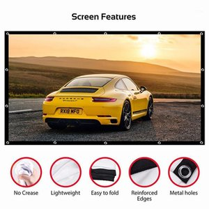 Projector Simple Curtain Anti-light Screen 60 72 84 100 120 Inches Home Outdoor Office Portable 3d HD Projector Screen1