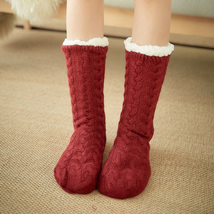 Cotton Thicken Winter Socks Women Sleep Warm Non-Slip Stocking Merry Christmas Deer Girl Gift Cute Xmas Floor Sock Hot