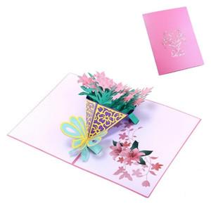 Narcissus bouquet Greeting Cards Handmade Birthday Wedding Invitation 3D Up Card New DU
