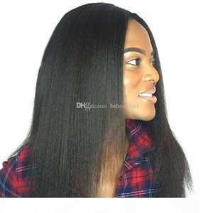 Yaki straight lace front human hair wigs for black women 150 denisty Full Lace Wigs Pre Plucked Hairline With baby hair bleached knots