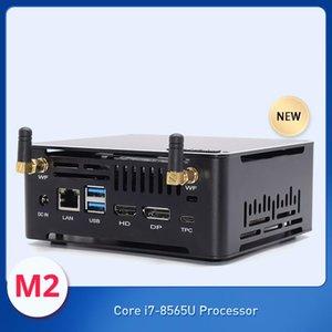 New design Desktop Mini PC Intel Core 8565U with cooling Fan M.2 NVME SSD max 64GB Linux HD DP1