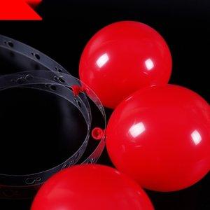 pcdk9 10 m Ballon Kunststoff-Kette Kette Loch Modellierung Ballon Link doppelte Hochzeit Raumdekoration Partei Hintergrund Wand Layout vwueV