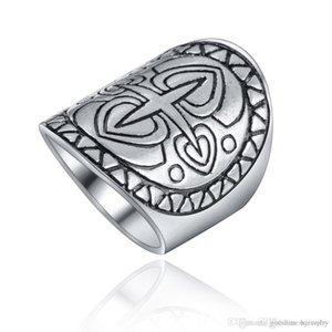 Silver Plated Ring For Women Men Ethnic Vintage Unique Carving Tibetan Totem Trendy Beach Jewelry Silver Rings