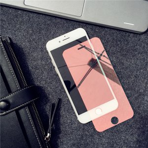 Luxury Colorful Mirror Tempered Glass Film for iPhone X XR XS 12 11 Pro Max 5S SE 6 6S 7 8 Plus Screen Protector Film Guard Case