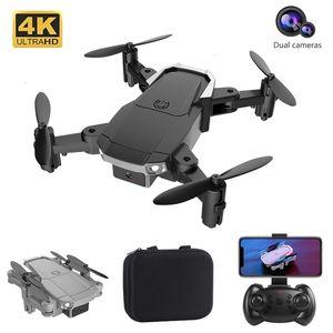 H6 البسيطة بدون طيار 4 كيلو 1080 وعاء hd المزدوج كاميرا طوي rc quadcopter wifi fpv واحد مفتاح العودة الارتفاع حفظ الهوائي لعبة الكاميرا هدية